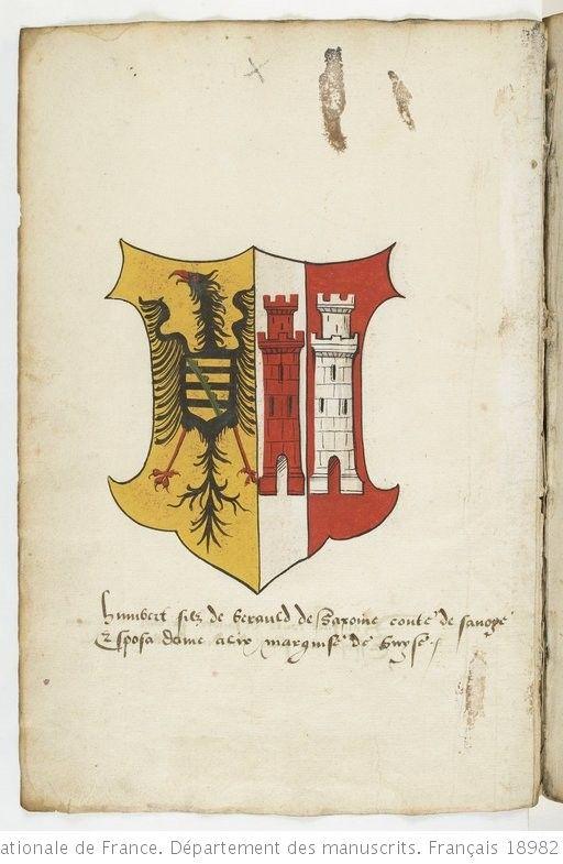 Armorial Colorie De La Maison De Savoie Et De Ses Alliances Depuis Berold Comte De Maurienne Jusqu Aux Enfants De P Maison De Savoie Roi De France Maurienne