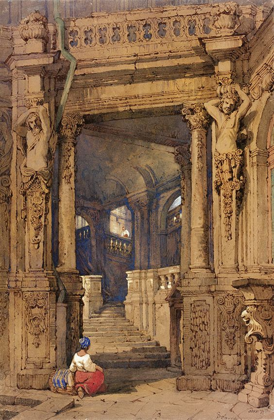 Entrance to the Zwinger', by Samuel Prout, watercolour