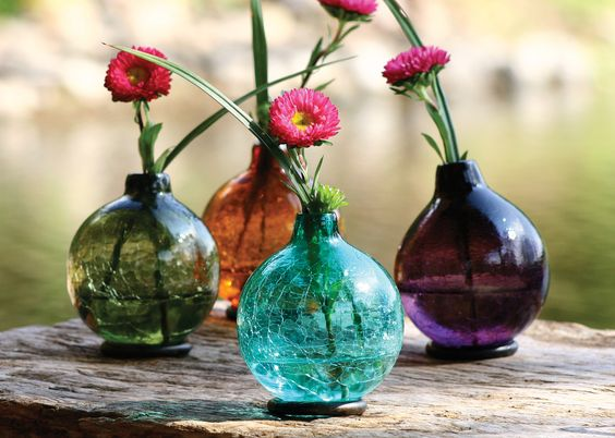 Recycled Color Glass Vases — WellaVerde