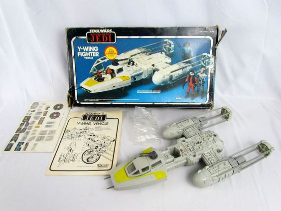 Vtg 1983 ROTJ Y-WING FIGHTER Vehicle w/ Original Box Clean Working Condition Toy…