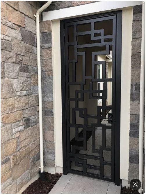 Pin De Jean Bovee En Herreria Puertas De Aluminio Exterior Diseño De Puerta De Hierro Rejas Modernas