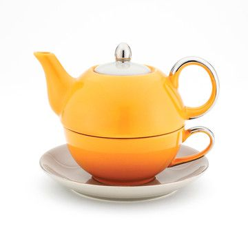 Tea For One Orange And Gray now featured on Fab.
