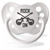 Rock On Guitar Pacifier  www.SpecialBabyShowerGifts.com