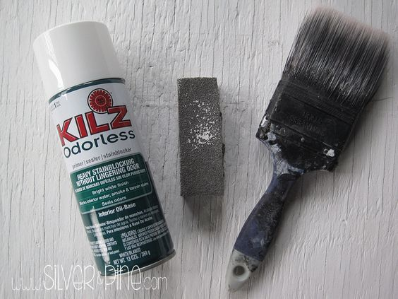 Great idea using an old paint brush to help clean up after you sanded a piece to paint.