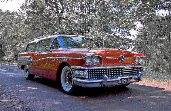 1958 Buick Century Caballero Hardtop Estate Wagon 6.0L GM Nailhead V8 Engine at…