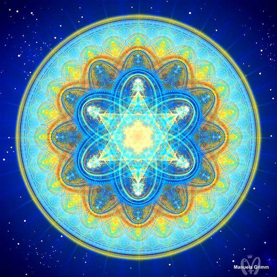 Sun Moon Merkaba Mandala by Manuela Grimm:
