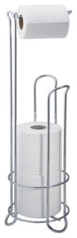 Classico Roll Stand  An easy fix for a bathroom sans toilet paper holder on the wall. This even holds the back-up rolls. more»  $18.09 | Target