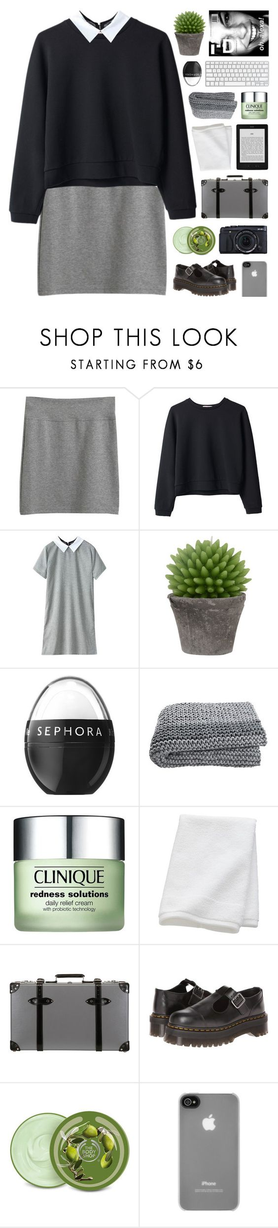 """""""quick note + read desc"""" by hhuricane ❤ liked on Polyvore featuring Organic by John Patrick, Broste Copenhagen, Sephora Collection, Clinique, CB2, Globe-Trotter, Dr. Martens, The Body Shop and Incase"""