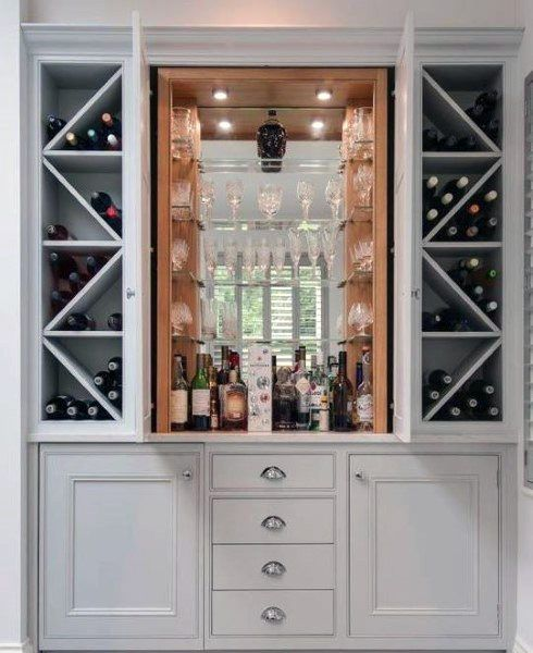 Top 70 Best Home Mini Bar Ideas Cool Beverage Storage Spots Home Bar Rooms Mini Bar Built In Bar Cabinet