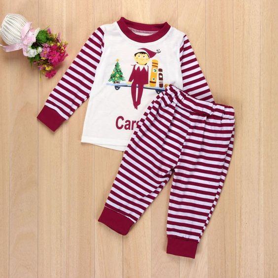 WensLTD Xmas Child Family Matching Christmas Pajamas Set Kids