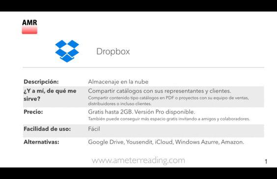 Herramientas de oficina gratis Dropbox