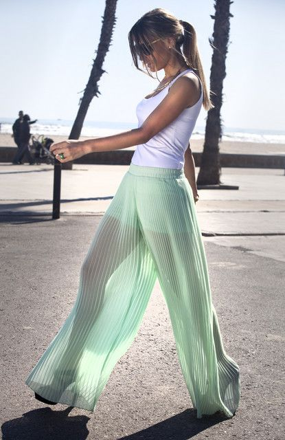 Mint + Pleats +Sheer = Amazing.