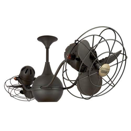 Vintage Gyro Oil Rubbed Bronze 42 Inch Ceiling Fan Minka Aire Stem Mounted Fan  Ceiling Fan
