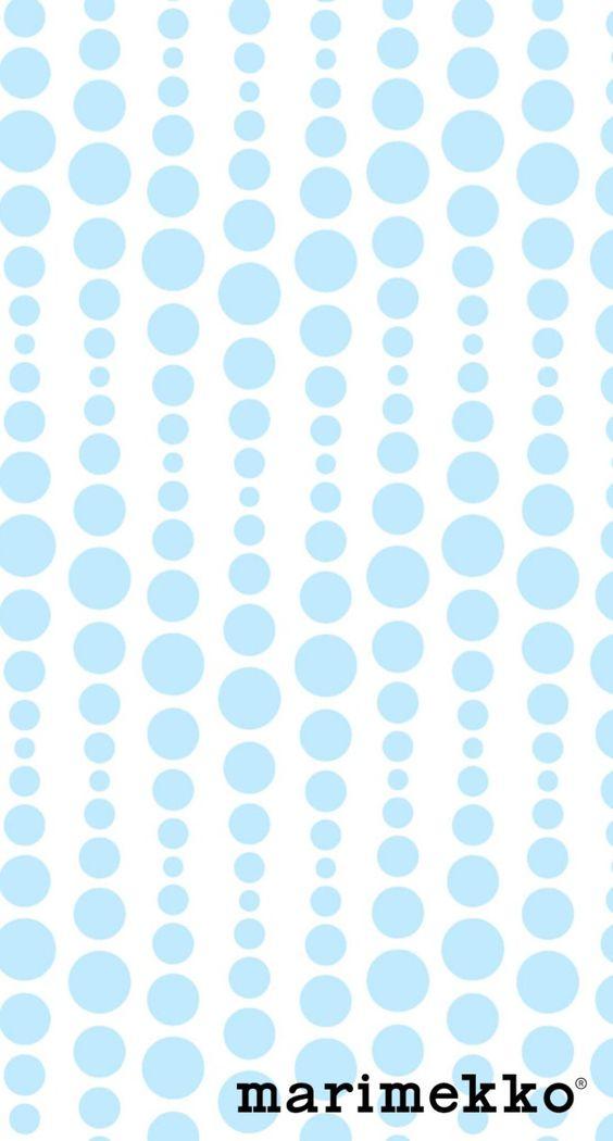 水色の丸の幾何学模様