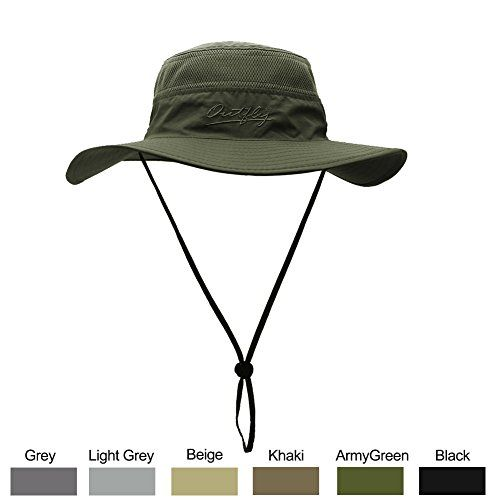 Sun Hat For Men Women Wide Brim Upf 50 Uv Protection Beach Cap Breathable Outdoor Boonie Hats With Adjustable Drawstring Design Perfect For Hiking Fishi Mens Sun Hats Hiking