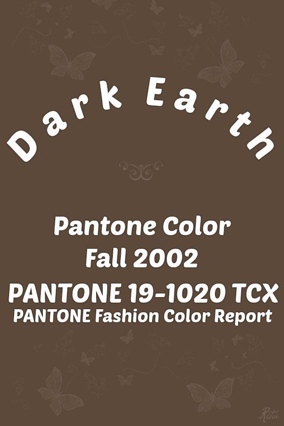 Pantone Dark Earth Palitra