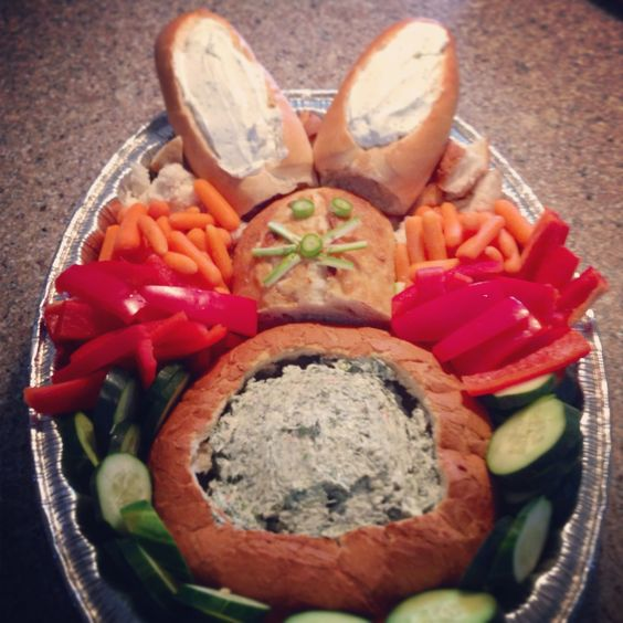 Easter themed veggie tray #food