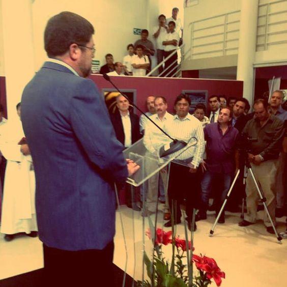 En Cochabamba, en la inauguración del Centro de Innovación Tecnológica para confecciones.