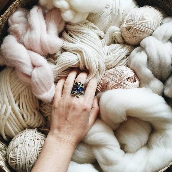 """Working with these beautiful and natural fibers. Obsessed with this soft merino wool sourced and produced in Alentejo, Portugal. Sometimes people ask me…"""