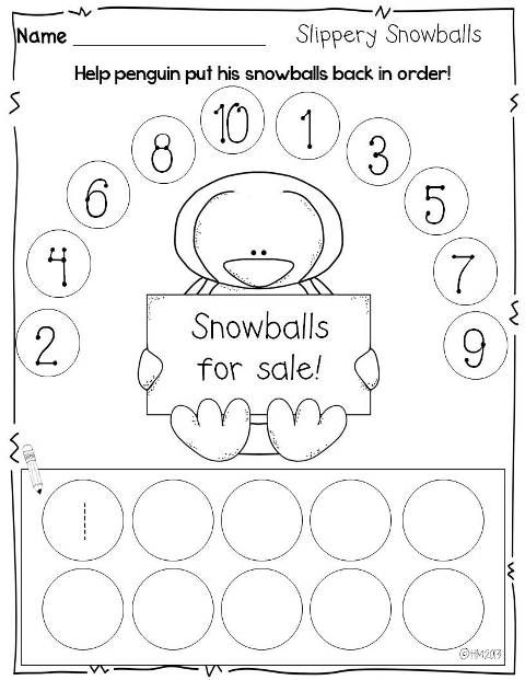 Print and Go {printables for winter}- number order