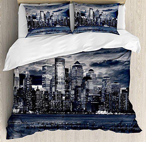 City Twin 4pc Bedding Duvet Cover Set, City Bedding Sets