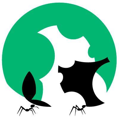 Comedoras de hojas. Diseño con vector