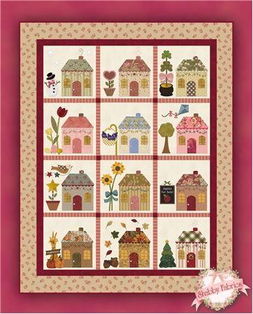 Country Cottages Pattern Pumpkins Mom And Block Of The