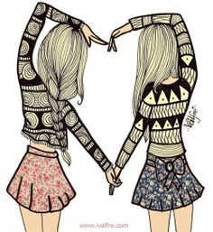 friendship drawings - Google Search