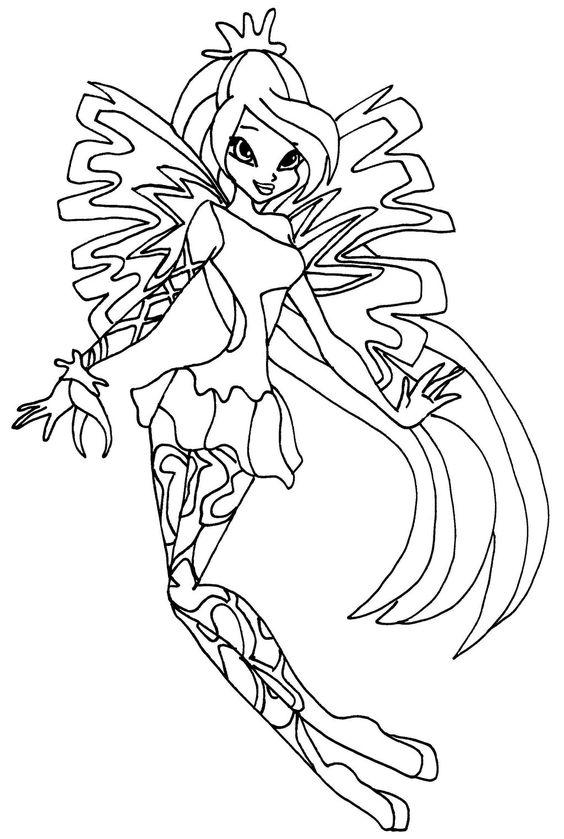 Winx club bloom sirenix coloring pages locuri de vizitat for Winx sirenix coloring pages