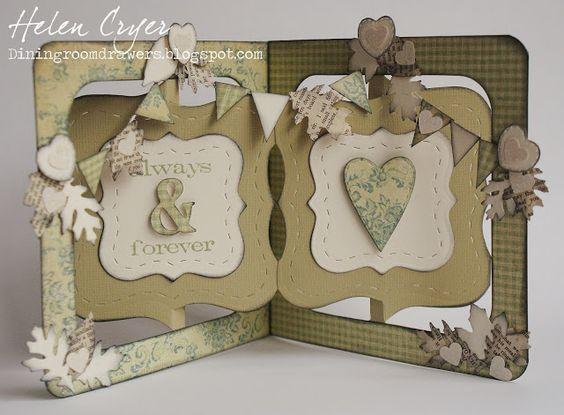 Sizzix Accordion Album Autumn Wedding Card