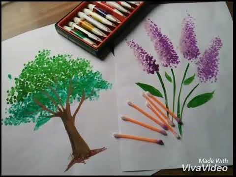 How To Make Paintings Out Of Earbuds Youtube Painting For