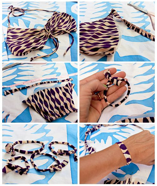 DIY Bikini Hair Ties: Diy Hair, Ties Diy, Hair Ties, Partys Ideas, Beach Hair, Awesome Idea, 19190244513 Diy