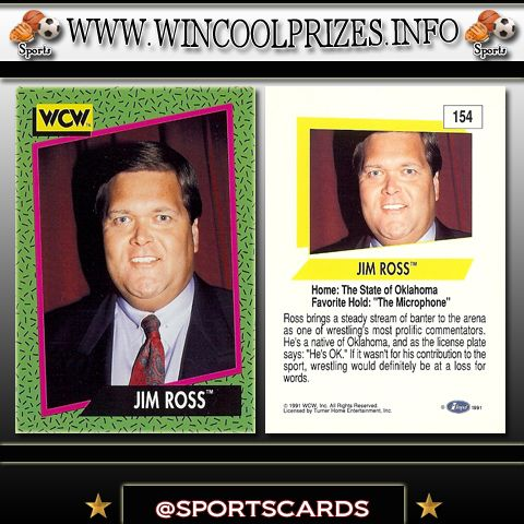 Wrestling Cards - Jim Ross ~ Signup for a free account and win thousands of your favorite sports cards at www.wincoolprizes.info also, follow us on instagram at sportscards for daily updates!