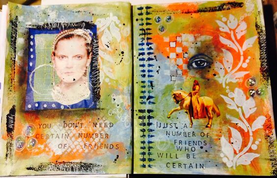 certain friends (by Vintage Gypsy Art)