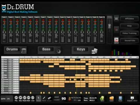 Making Dubstep Beats with Dr Drum Beat Making Software