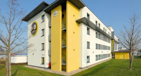Außenansicht des B&B Hotels Mainz-Hechtsheim