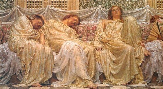 """Dreamers"" by Albert Joseph Moore | 25 Of The Laziest People In Art:"