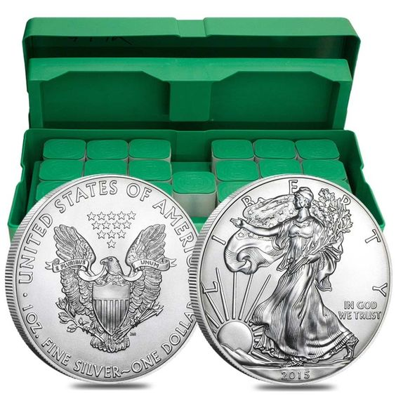 2015 1 Oz Silver Eagles Mint Sealed Monster Box 500 Coins Eagle Coin Gold Eagle Coins American Silver Eagle