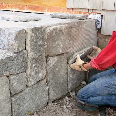 clad the sides to clad concrete steps in stone