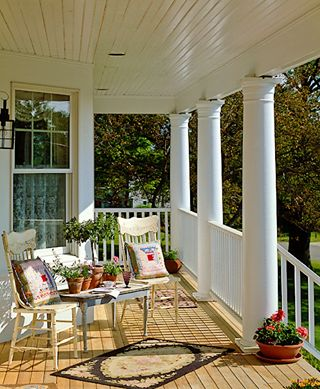 Southern front porches front porches and porches on pinterest for Southern front porches