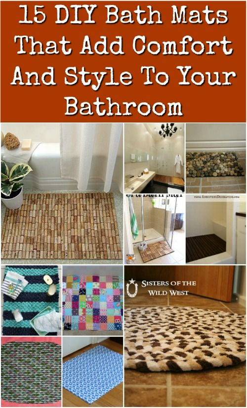 15 Diy Bath Mats That Add Comfort And Style To Your Bathroom Diy Bath Mats Bath Mat Diy Diy Bath Products
