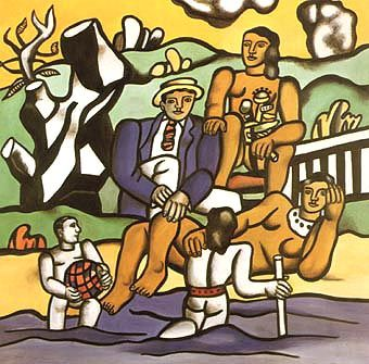 Country Outing, 1954, Fernand Leger