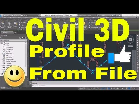 Autocad Civil 3d Tutorial Road Profile Creation From File In