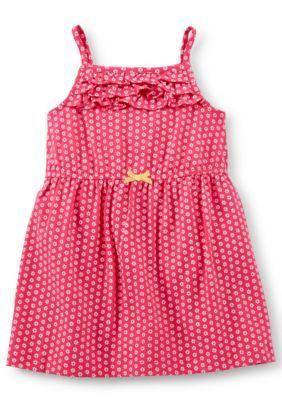 Carters  Mini Flower Print Dress