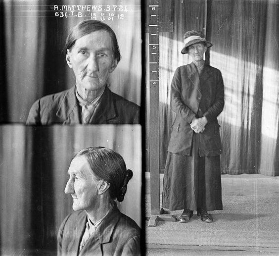 World weary: Little is known of this older criminal Annie Matthews - criminal record number 634LB arrested on 3 July 1924