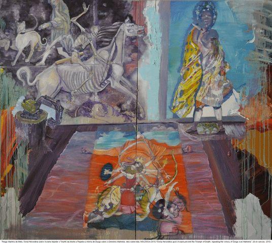 Thiago Martins de Melo, Dona erondina sobre viviane impede o triunfo da morte repetindo a vitoria de durga sobre o demonio mahisha (2010)