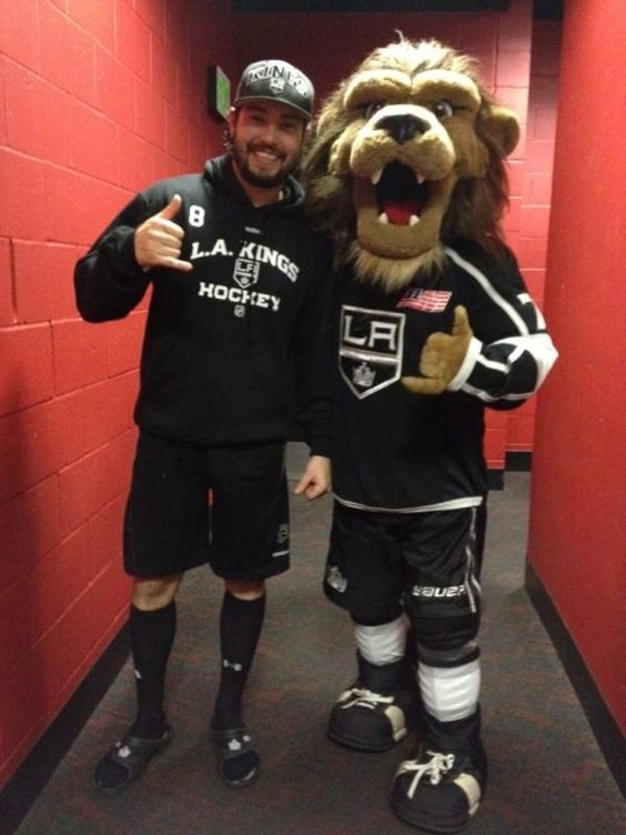 Me and my boy Drew just celebrating the win. I love the @LAKings