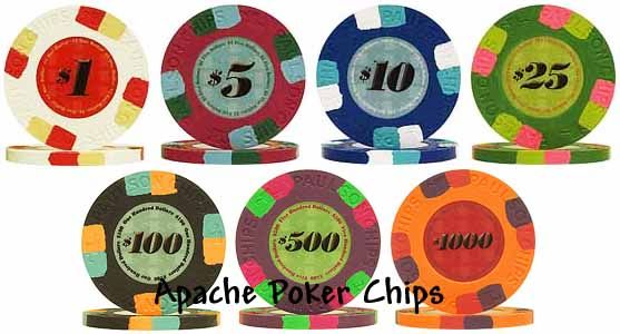 Authentic Paulson Classic Poker Chips  set of 500: $557  - for J