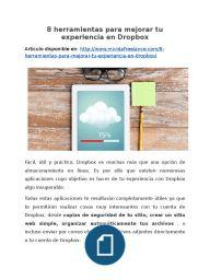 8 herramientas para mejorar tu experiencia en Dropbox