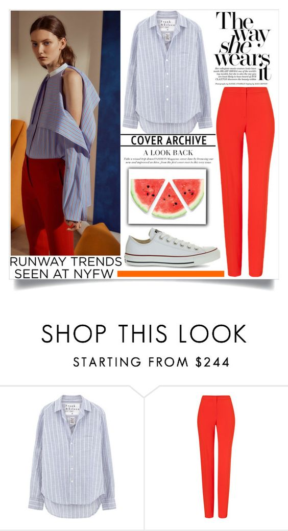 """runway"" by teo-fox ❤ liked on Polyvore featuring Rosetta Getty, Frank & Eileen, ESCADA, Converse and NYFW"